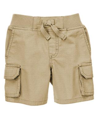 Toddler Boys Khaki Cargo Ripstop Shorts by Gymboree