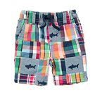 Shark Chambray Patchwork Shorts