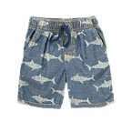 Shark Chambray Shorts