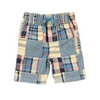 Chambray Patchwork Shorts