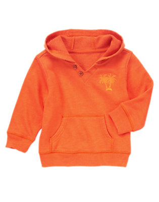 Toddler Boys Volcano Orange Palm Tree Pullover Hoodie by Gymboree