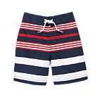 Patriotic Stripe Swim Trunks
