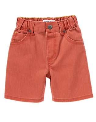 Toddler Boys Sunwashed Prehistoric Red Denim Shorts by Gymboree