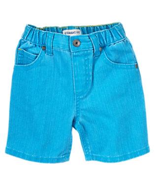 Toddler Boys Sunwashed Desert Teal Denim Shorts by Gymboree