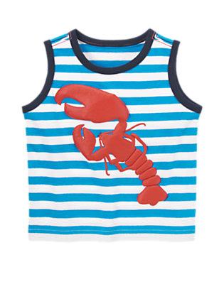 Toddler Boys Desert Teal Stripe Lobster Striped Tank by Gymboree