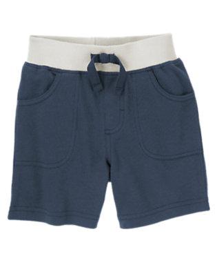 Toddler Boys Dark Indigo Pull-On Shorts by Gymboree