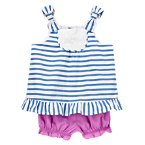 Ruffle Striped Two-Piece Set