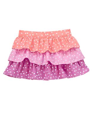 Toddler Girls Bright Sunset Dot Polka Dot Tiered Skirt by Gymboree