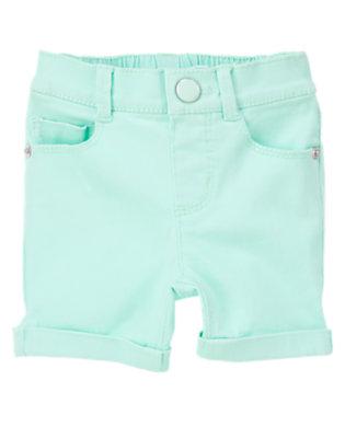 Toddler Girls Cotton Candy Blue Bermuda Short by Gymboree