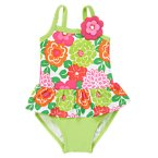 Floral Ruffle One-Piece Swimsuit