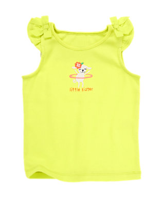 Toddler Girls Limeade Little Sister Tank by Gymboree
