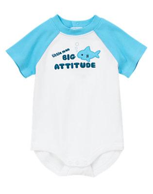 Baby White Big Attitude Bodysuit by Gymboree