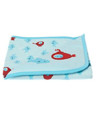 Baby Bubbly Blue Submarine Shark Blanket by Gymboree
