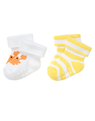 Baby Sunny Stripe Crab and Stripe Socks Two-Pack by Gymboree
