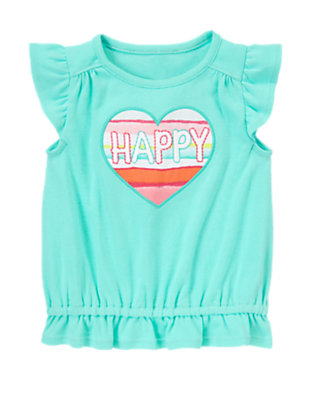 Toddler Girls Blue Sky Happy Heart Tunic by Gymboree