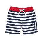 Striped Star Swim Trunks
