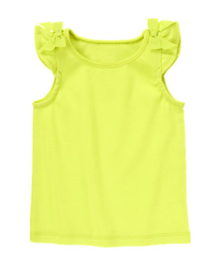 Toddler Girls Limeade Bow Shoulder Tank by Gymboree