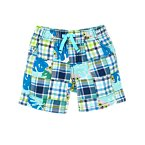 Leafy Patchwork Shorts