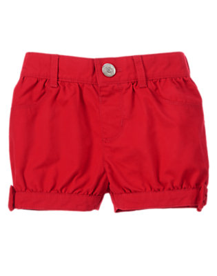 Toddler Girls Red Beret Red Bow Shorts by Gymboree