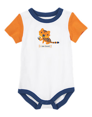 Baby White I Am Loved Tiger Bodysuit by Gymboree