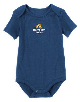 Baby Gym Navy Daddy's Best Buddy Bodysuit by Gymboree