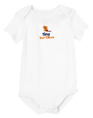Baby White Tiny But Fierce Bodysuit by Gymboree