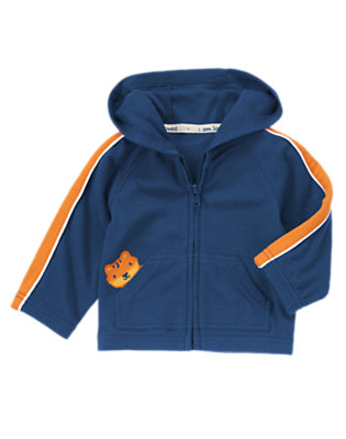 Baby Gym Navy Tiger Track Hoodie by Gymboree