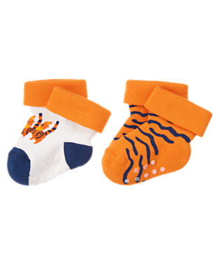 Baby Orange Cub Tiger Sock Two-Pack by Gymboree