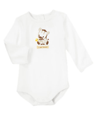 Baby White I Am Loved Zebra Bodysuit by Gymboree