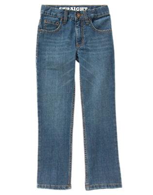 Boys Denim Straight Jeans by Gymboree