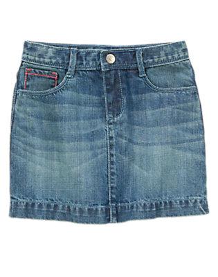 Girls Denim Denim Dot Skirt by Gymboree