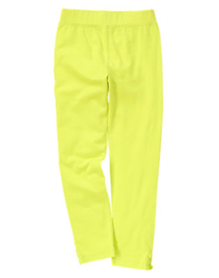 Girls Limeade Button Leggings by Gymboree