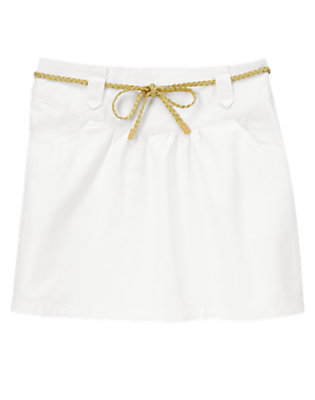 Girls White Gold Rope Skirt by Gymboree