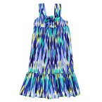 Ikat Ruffle Dress