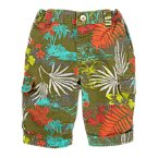 Tropical Print Cargo Shorts