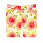 Watercolor Floral Bermuda Short