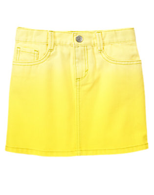 Girls Neon Cactus Ombre Skirt by Gymboree
