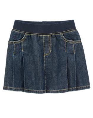 Girls Denim Pull-On Denim Skirt by Gymboree