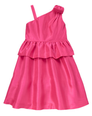 Girls Candy Pink Bow Shoulder Dress by Gymboree