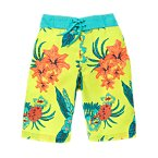 Tropical Flower Swim Trunks