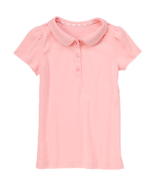 Girls Eraser Pink Polo Shirt by Gymboree