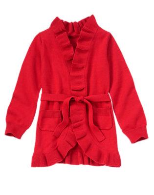 Girls Homeroom Red Wrap Cardigan by Gymboree