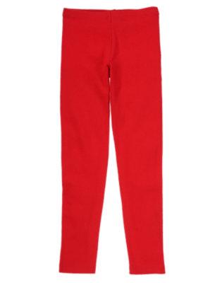 Girls Homeroom Red Uniform Leggings by Gymboree