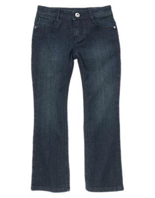 Girls Dark Denim Bootcut Jeans by Gymboree
