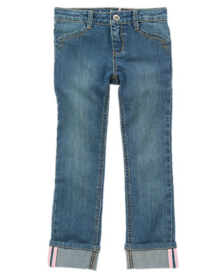 Girls Denim Straight Jeans by Gymboree