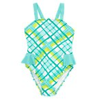 Painted Plaid One-Piece Swimsuit