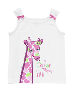 Girls White Color Me Happy Sleep Tank by Gymboree