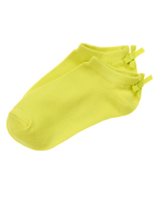 Girls Limeade Bow Ankle Socks by Gymboree