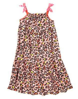 Girls Pink Cheetah Cheetah Print Pajama Gown by Gymboree