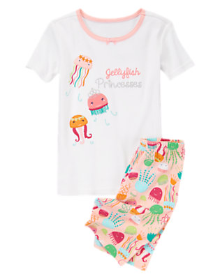 Toddler Girls White Jellyfish Princesses Shortie Two-Piece Gymmies® by Gymboree